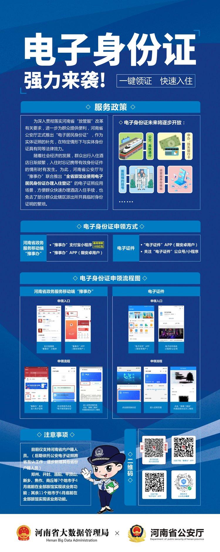 河南推出電子居民身份證服務